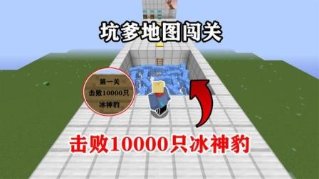 我的世界:击败10000冰神豹!