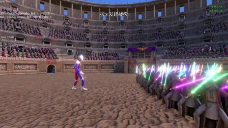 史诗战争模拟器:一名迪迦奥特曼VS一百名绝地武士,谁会获胜呢?