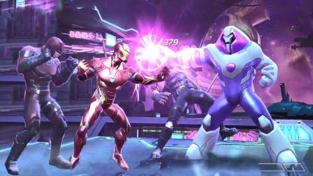 夜魔侠和刀锋战士以及钢铁侠联手打败对手