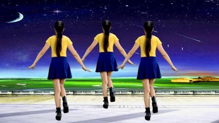 纯音乐版《拉萨夜雨》广场舞附分解,背面演示