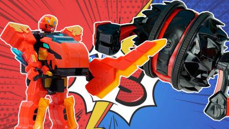 陀螺机器人把僵尸博士压倒在地 心奇爆龙战车玩具故事