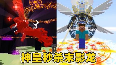 我的世界斗罗生存110:最强神皇诞生,直接秒杀末影龙!