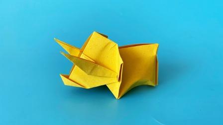 怎么折纸三角龙,木村良寿作品,折纸王子视频教程