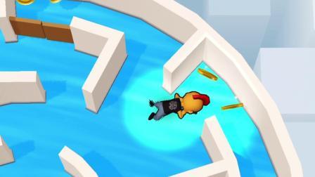 益智小游戏:在游泳池里抓坏蛋