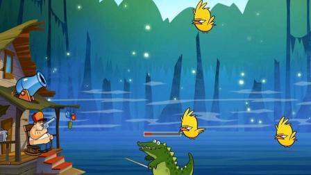 小游戏:奥特曼兄弟收集鳄鱼蛋对战怪兽