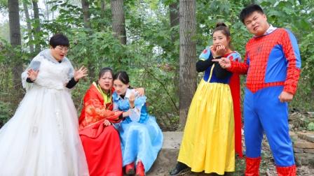 坏姐姐和王后相认,白雪公主和侍卫趁机逃走,机智