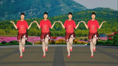 最新情歌广场舞《杏花落》婉转动听甜美,优美64步,好看好学