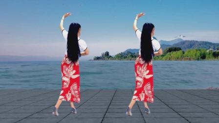 早上好,送您一首《杏花落》背面演示 现在很流行的舞蹈