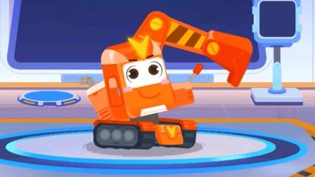 奇妙的工程车:挖掘机修建桥梁 宝宝巴士游戏