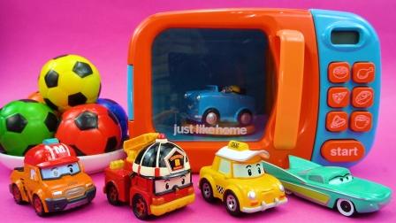 趣味过家家游戏 彩色足球拥有魔法变成了小汽车
