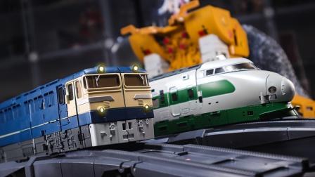 【定格动画】MP级别火车合体!MS雷电暗夜/冰原变形展示
