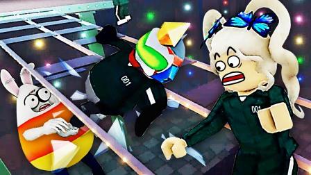 鱿鱼游戏 我哥上高空玻璃桥,左右横跳轻松破解!小熙解说
