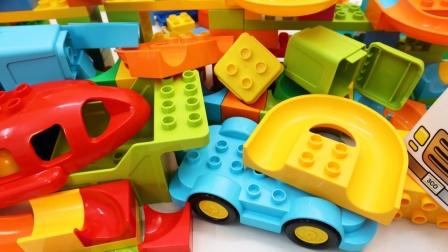 积木搭建环形汽车赛道