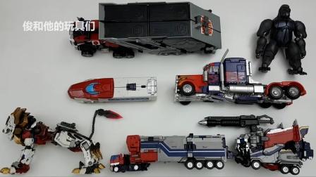 变形金刚 电影 擎天柱 原始狮子车队机器人玩具.