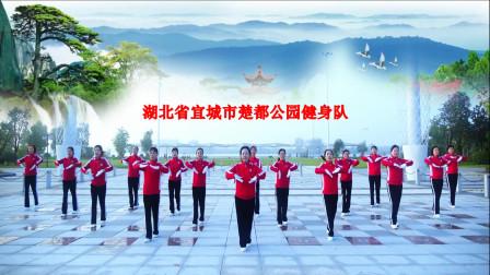 湖北省宜城市楚都公园健身队学习跳跳乐第23套晓敏健身操第2节