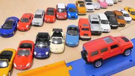 二十辆合金汽车展示和赛道比赛