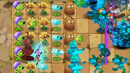 植物大战僵尸2shuttle版:高难度功夫10,爆裂葡萄好用!