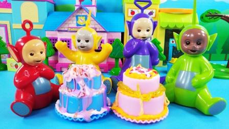 天线宝宝比赛DIY奶油胶蛋糕,谁的最好看呢?