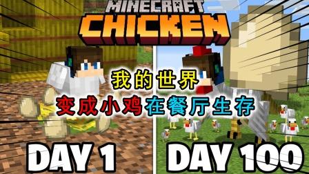 我的世界:玩家是一只小鸡,在餐厅中求生