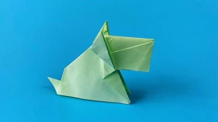 怎么折纸前川淳的狗,一遍学会了,折纸王子视频教程