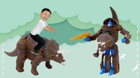 全网最丑恐龙变形玩具 霸王龙变形后像头牛
