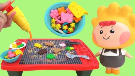 培乐多彩泥多功能烧烤平板玩具