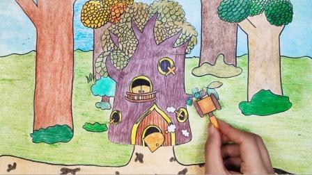 趣味手绘动画:帮助萌鸡小队修理房子