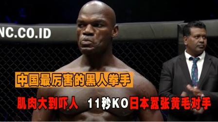 中国最强的黑人拳手,开局11秒打晕对手,裁判都救不了
