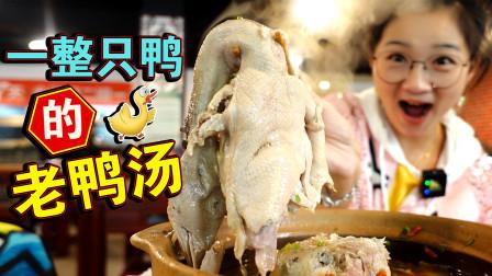 【逛吃北京】整只鸭子的老鸭汤!太肥嫩了~牛肉板筋锅多的冒尖