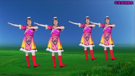 藏族舞《我的玫瑰卓玛拉》热情欢快的舞步,越跳越开心