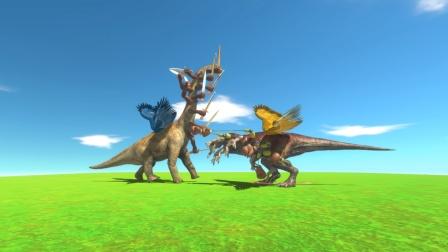 动物战争:十条手臂的腕龙VS十条爪子的霸王龙 谁更厉害