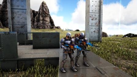 方舟生存进化:VS系列 和小白拿秒人冲锋枪搞笑PK 谁能赢