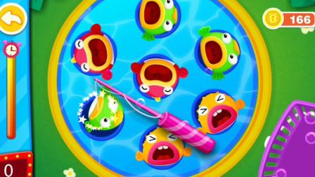 宝宝游乐园 帮奇奇钓出黄色的鱼~宝宝巴士游戏