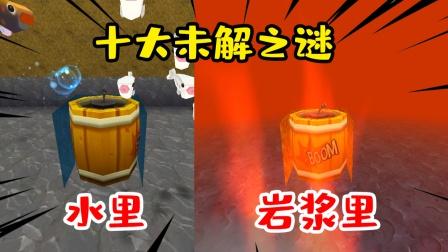迷你世界:十大未解之谜,炸药桶威力那么大,在水里能爆炸吗?