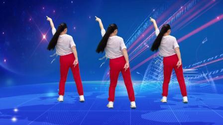 火爆流行广场舞《心上人》DJ版,现代舞,背面演示