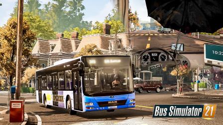 巴士模拟21 天使海岸 #22:平地起飞?打伞开车?感谢开发商在无聊的任务中带来的一点乐子 | Bus Simulator 21