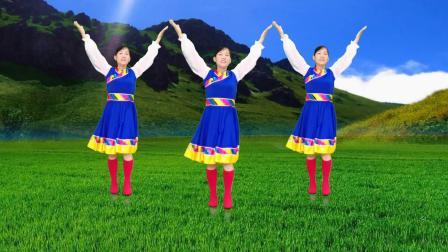 玫香广场舞《春到雪山》正面演示