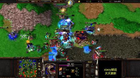 6v6纯地面 全程大场面对抗 怒杀16个英雄 魔兽争霸xia