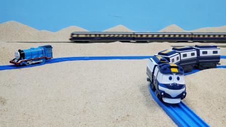 动感火车凯与托马斯高登和高铁沙滩跑跑跑