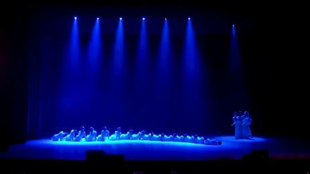 浙江省大学生艺术节,舞蹈《雨涧春行图》,杭州师范大学音乐学院原创舞蹈作品。