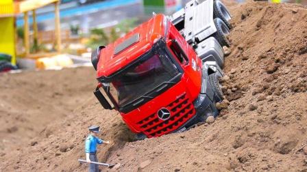 灯光卡车汽车模型玩具出发