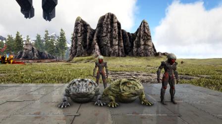 方舟生存进化:VS系列 穿雷霆套装和魔鬼蛙比赛跳远 谁会赢