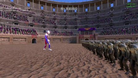 史诗战争模拟器:一名迪迦奥特曼VS250名僵尸,谁会获胜呢?