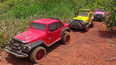 彩色越野车吉普车玩具出发