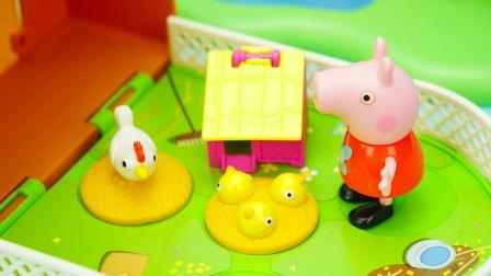 小猪佩奇场景玩具:佩奇的迷你农场过家家玩具