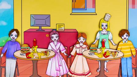手绘定格动画:芭比的新餐厅刚营业就停电了,快来帮她想想办法,怎么让客人吃上美味的食物吧!