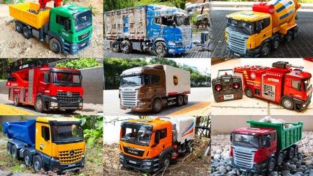 儿童益智玩具:消防车、翻斗车、扫地车、卡车、搅拌车、运输车!