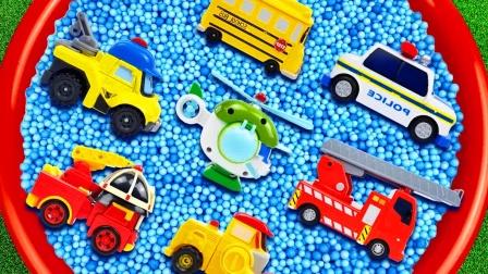 儿童益智玩具:直升机、消防车、警车、救护车、挖掘机、公交车!