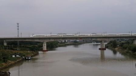 【连镇客专】G7586次(温州南→连云港)南京动车所CRH2C重联担当通过金湾河大桥