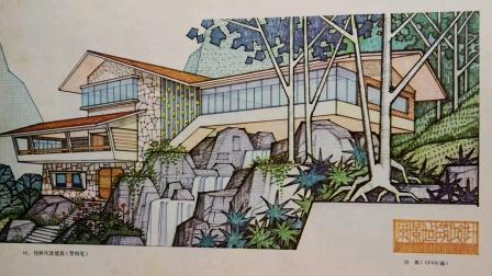50一一70年代建筑画报图片大全、宣传画(塑料笔)。78年版建筑画选,中国建筑工业出版社编辑部《桂林风景建筑》